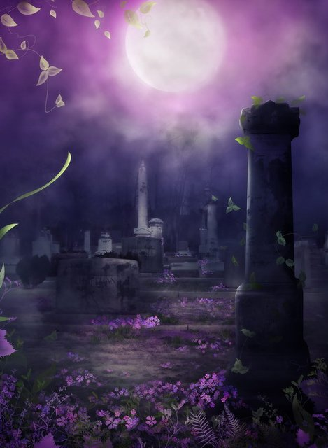 Halloween Background With Zombie, Tree, Tombstones And The ...  Halloween Tombstone Background