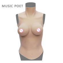 NEW D cup half body breast forms for crossdresser Artificial Boobs Enhancer shemale Trandsgender tit Realistic Silicone breasts