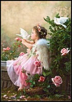 Embroidery Counted Cross Stitch Kits Needlework Crafts 14 ct DMC color DIY Arts Handmade Decor Angel Kisses