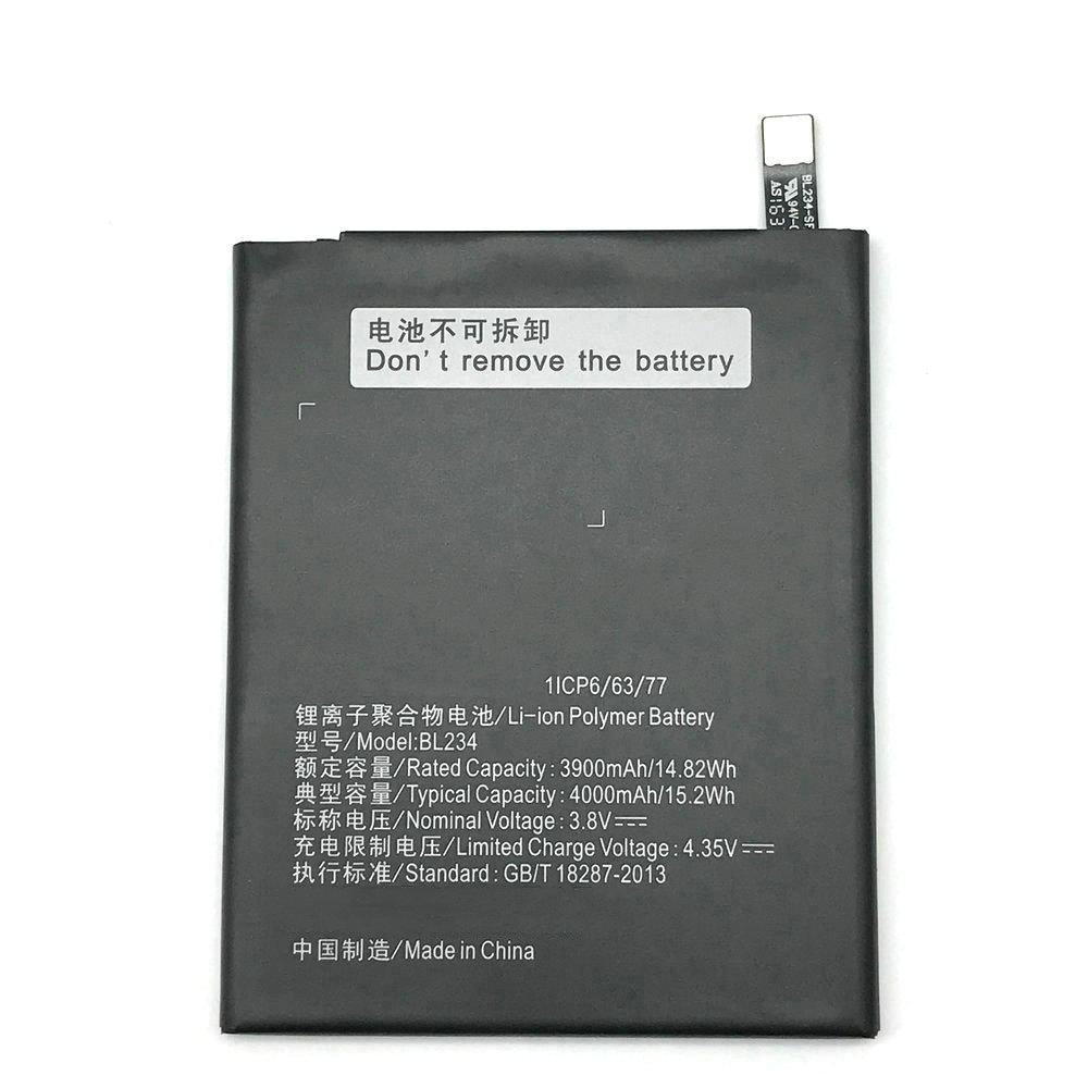 BL234 4000mAh Battery For Lenovo P70 P70t P70-T mobile phone + Track Code image