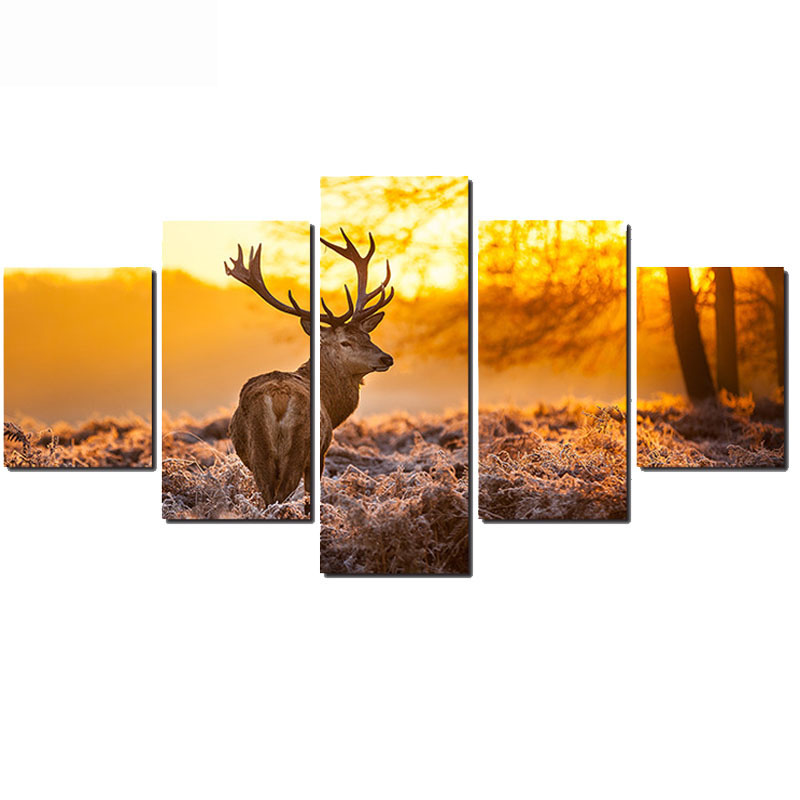 5 pcs set full 5D DIY Diamond Embroidery Animal Deer Diamond Painting Cross Stitch forest Deer
