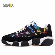 Somix Mùa Đông của Men Running Shoes Ấm Len Nữ Sneakers Trọng Lượng Nhẹ Ngoài Trời Đầy Màu Sắc Unisex Breathable Giày Thể Thao Athletic