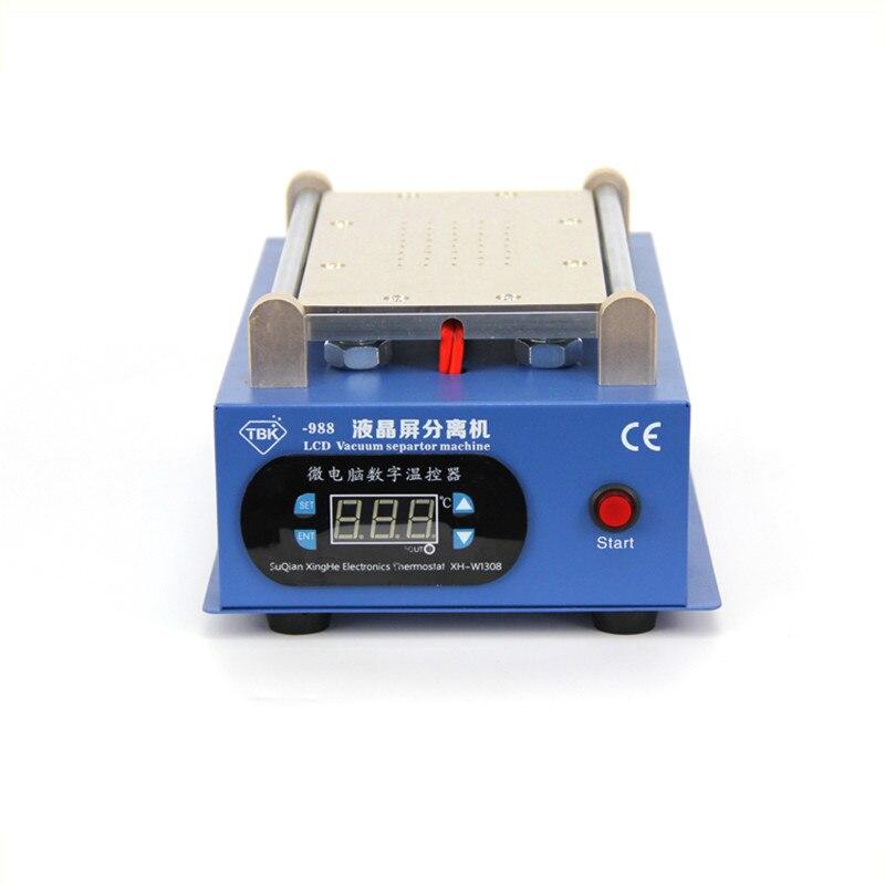 TBK-988 Built-in vacuum pump LCD Screen separator Metal Body 7 inches 110/220V for phone Glass Screen Repair Split Screen
