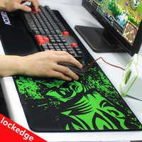 Green Print Large Gaming Mouse Pad Anti-slip Natural Rubber Mouse Mat Keyboard Pad Desk Mat For Laptop Computer Gamer Mousepad
