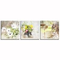 Flor de La margarita Impresiones de la Lona Foto HD Imprime sobre Lienzo Tarde Té Impresiones de Fotos de Interior Decoración de La Pared Sin Marco (16