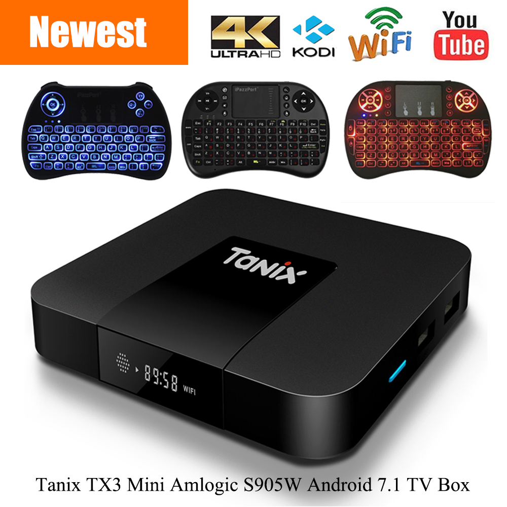 Tanix TX3 Mini Smart TV Box Amlogic S905W 1.5 ghz Set-top Box 2.4 ghz WiFi Android 7.1 DDR3 4 k HD H.265 Media Player PK X96 mini