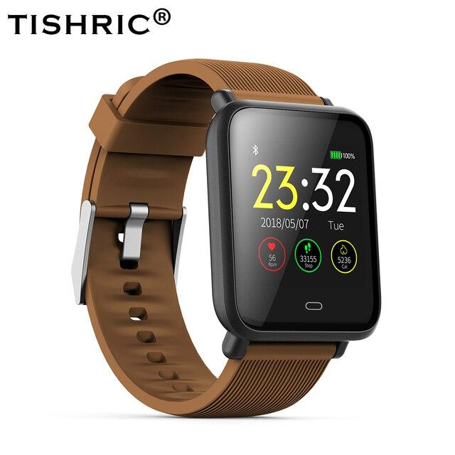 TISHRIC Q9 inteligentna bransoletka wodoodporny pulsometr sportowy krokomierz kobiety mężczyźni inteligentny zegarek fitness Smart watch 5 kolor nadgarstek