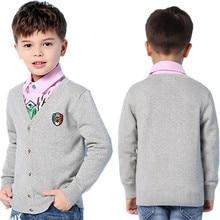 Super Soft Cotton Crochet Sweaters Cardigans For Boys Purple V Neck Long Sleeves Knitwear Green Slim Button Down Jacket Kid Grey dark grey knitting long sleeves loose cardigans