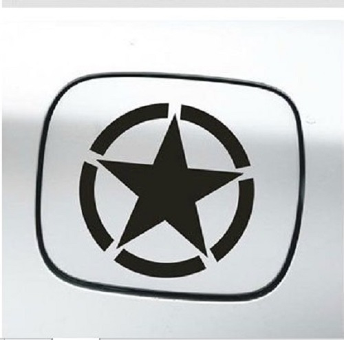 2pcs lot car styling door hood stickers wranngler car sticker army star car decals for