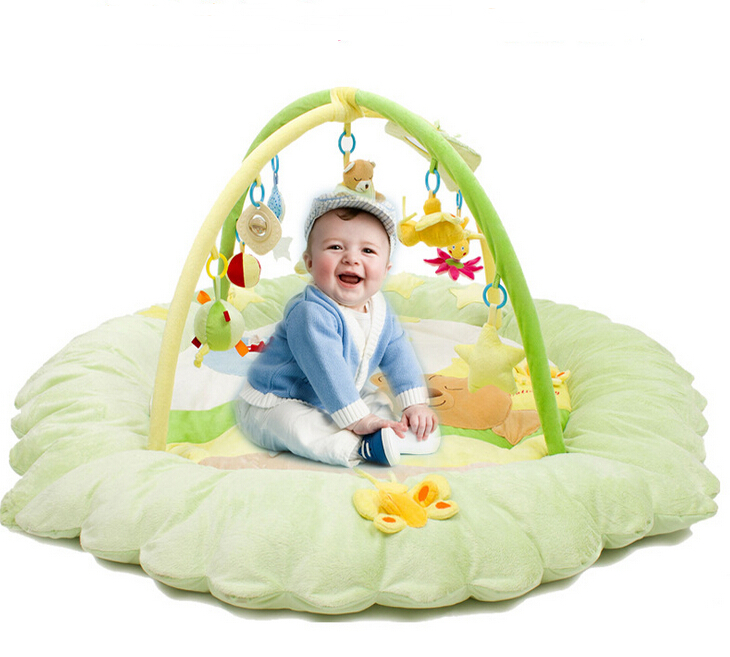 baby develops play mat for children large velvet rug 140*140*60cm seaside scenery skidproof crystal velvet fabric rug