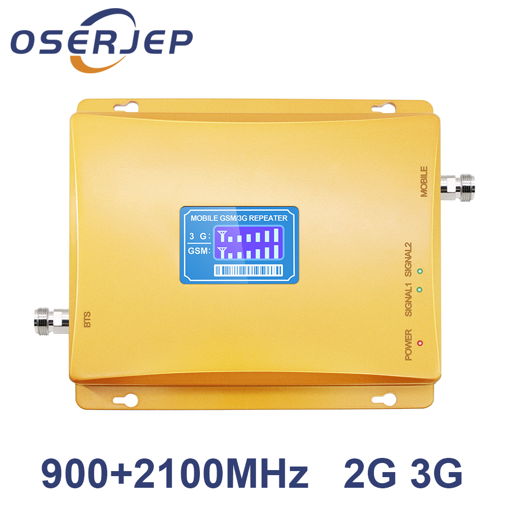 Repeater GSM 900 2100 Dual Band Repeater 2g 3g Booster WCDMA 2100MHz GSM 900mhz 3g UMTS Cell Phone Signal Booster Amplifier-in Signal Boosters from Cellphones & Telecommunications    1