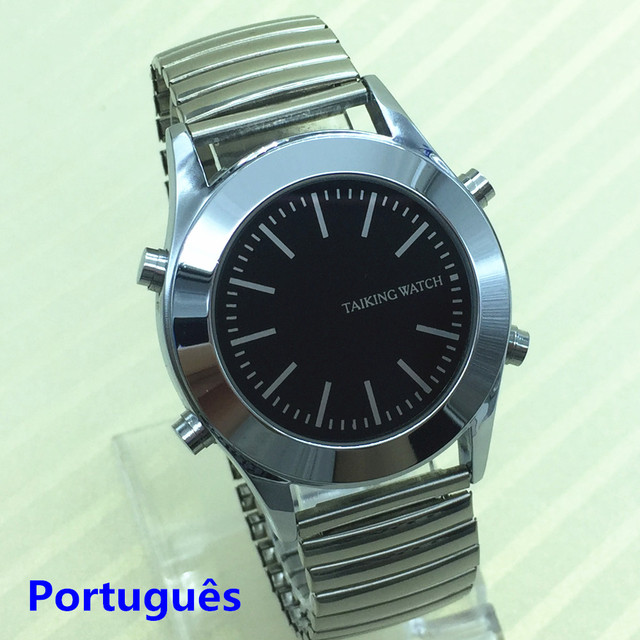 Portuguese Talking Watch for Blind People or Visually Impaired With Alarm Falar