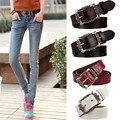 Ancho Cinturón de Cuero Genuino de Las Mujeres de la manera de La Vendimia Floral Tallada Cinturones de Piel de Vaca Nuevo Diseño Femenino de La Correa para Los Pantalones Vaqueros