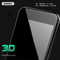 Remax 0.3mm Pełna Osłona Ochraniacz Ekranu 3D Arc Hartowane Krawędzi szkło dla iPhone7 7 plus Szkło Film Tarcza anti wody i oleju łatwe czyste