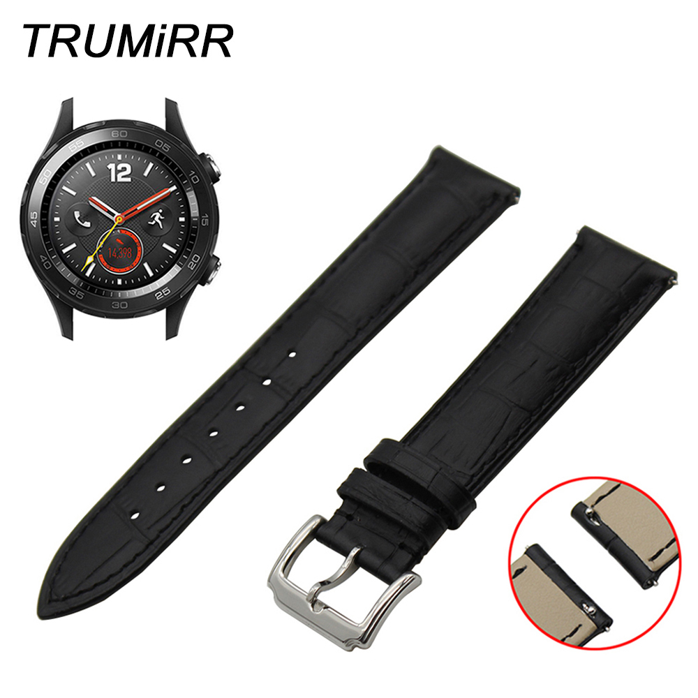 Quick Release Band 1St Layer Genuine Leather Strap For -5534