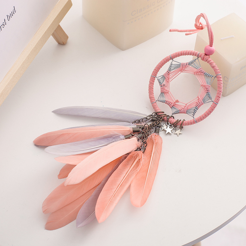 Image 5 - Dream Catcher Car Accessory Interior For Girls Feather Car Mirror Hanging Pendant In Auto Ethnic Home Decor Lucky Car Ornaments-in Ornaments from Automobiles & Motorcycles