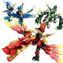 Hot 95pcs + Ninja Dragon Knight Building Block Senbao Childrens Toys Compatible with DIY Boy Friends JM1