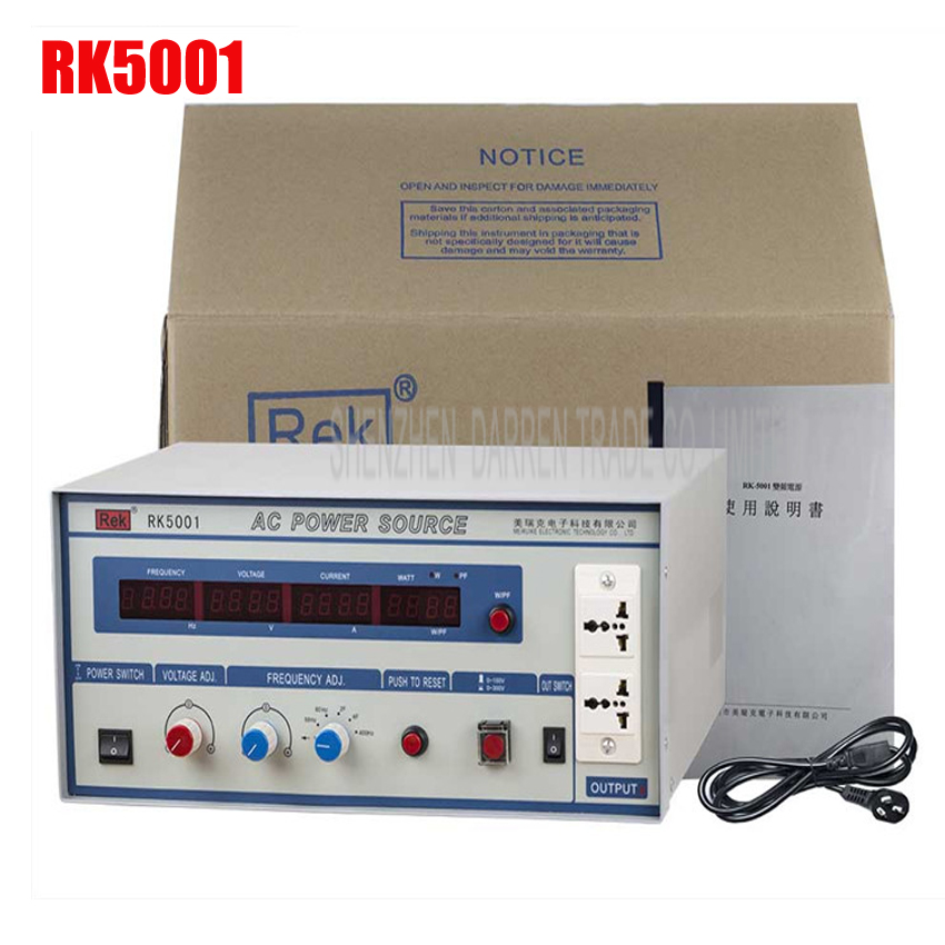 Rek RK5001 digital ac frequency conversion power supply AC power 1KW Inverters AC Power Source Voltage Regulators/Stabilizers кабели межблочные аудио neotech nei 5001 1 0m