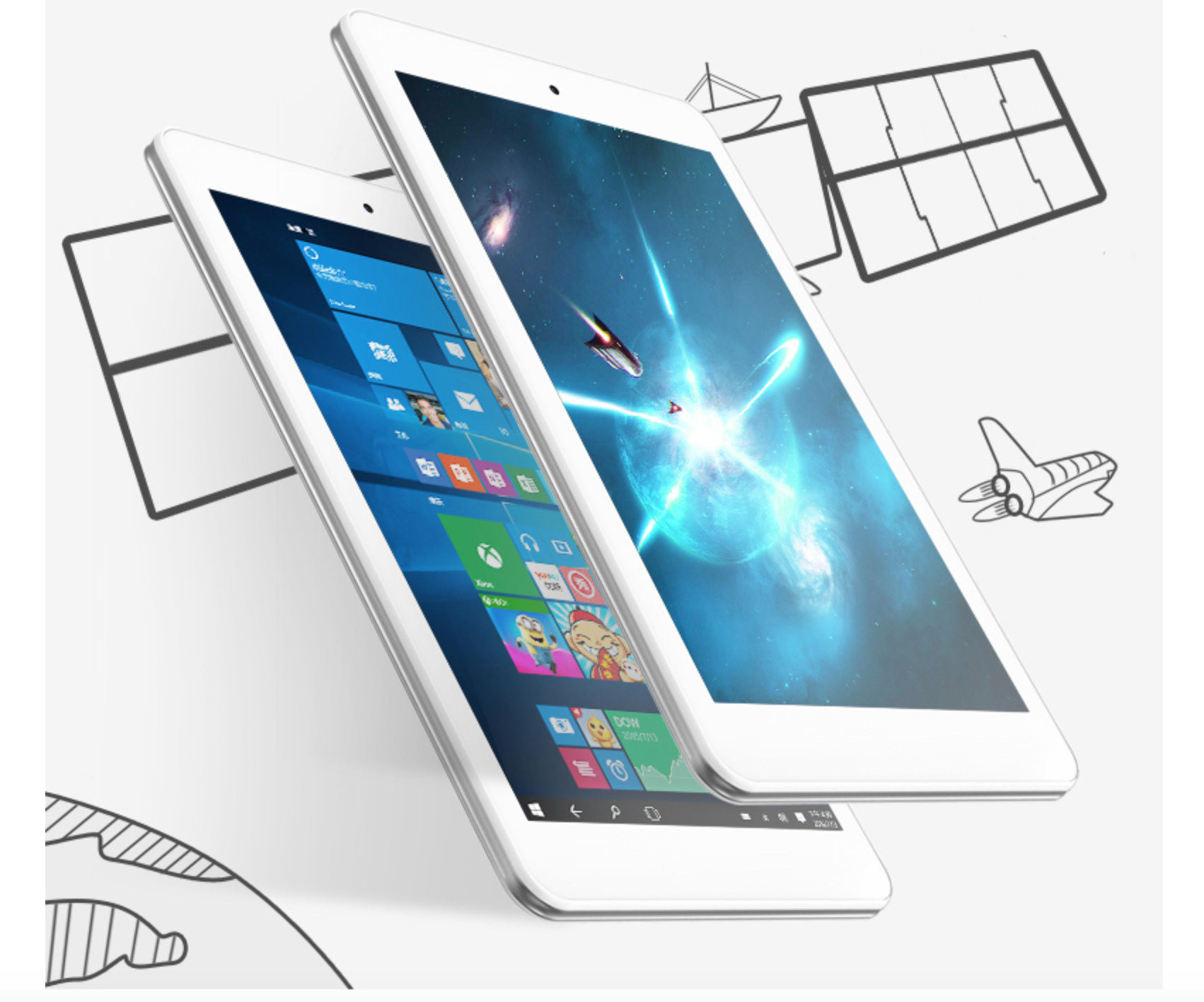 8 ''ips cube iwork8 aire windows10 + android 5.1 tablet pc 1920x1200 intel z8300