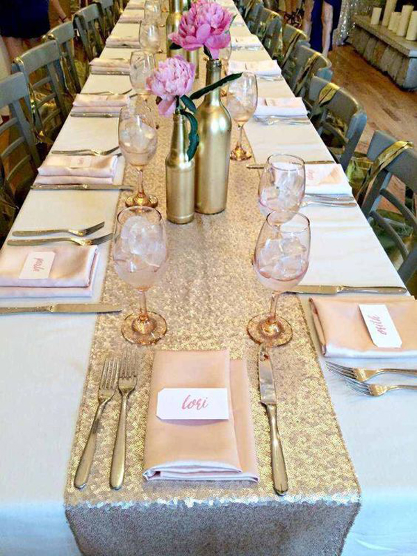 Wholesale 20pcs/lot Hight-end Champagne/Gold/Silver Sequin Table Runner- 12x108inch-fit 6ft or 8ft Rectangle Table Decoration