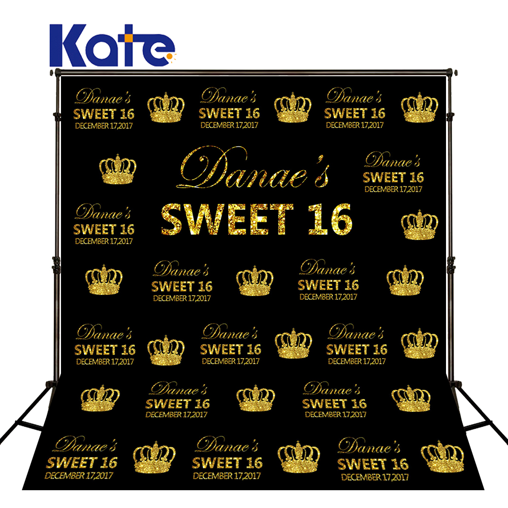 Kate Happy Birthday 16st Photographic Backdrops Girl Princess Photo Background Party Custom Studio Backgrounds Backdrops