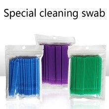 Durable Micro Q-tips Disposable Eyelash Extension Individual Applicators Mascara Brush For Wholesale 100pcs 1511