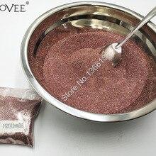0,2 мм 008 дюймов металлический розовое золото цвет блеск для ногтей порошок пыли для дизайна ногтей DIY косметические Блестки для рукоделия украшения