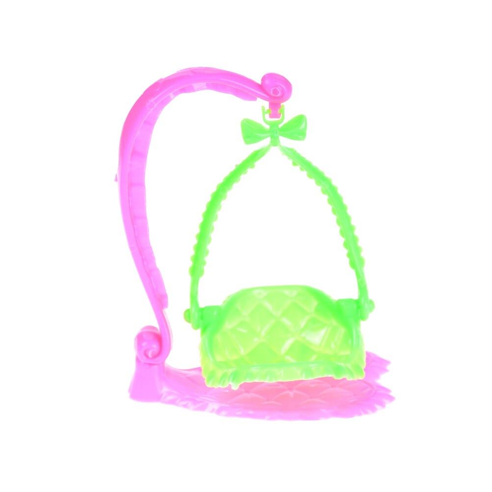 1 Pcs Plastic Swing Stoel Voor Pop Accessoires Meubels Poppenhuis Pretend Play Speelgoed Poppenhuis Miniatuur Eenvoudig En Eenvoudig Te Hanteren