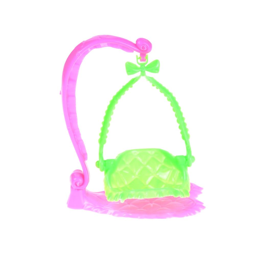 1 Pcs Plastic Swing Stoel Voor Pop Meubels Poppenhuis Pretend Play Speelgoed Poppenhuis Miniatuur Bekwame Vervaardiging