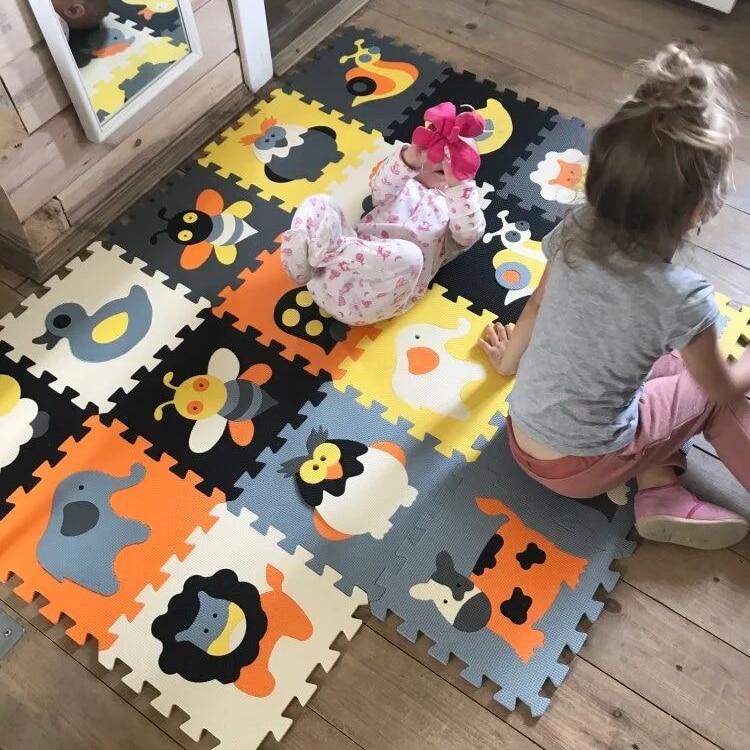 Bébé EVA mousse Puzzle tapis de jeu jeu de verrouillage exercice Gym tapis de sol pour enfants enfants eva tapis 18 pièces/ensemble, 30cm x 30cm