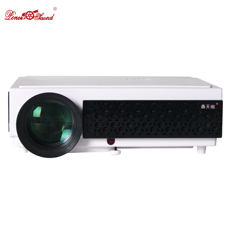 Poner Saund Full Hd New Mini Projector Proyector Led Lcd: Poner Saund 5500Lumens Led Projector Full Hd Digital Home
