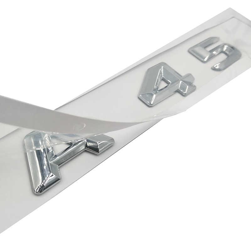 ABS Plástico 3D Adesivo UM 45 A45 C 63 C63 E 63 E63 Logotipo Tronco Traseiro Do Emblema Do Emblema para Mercedes benz AMG W176 UMA Classe A45 C63 E63