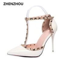 2017 pumpen Sommer stil mode weibliche sandalen niet Metall dekoration pu-leder Südkoreanische art frauen high heels JY06