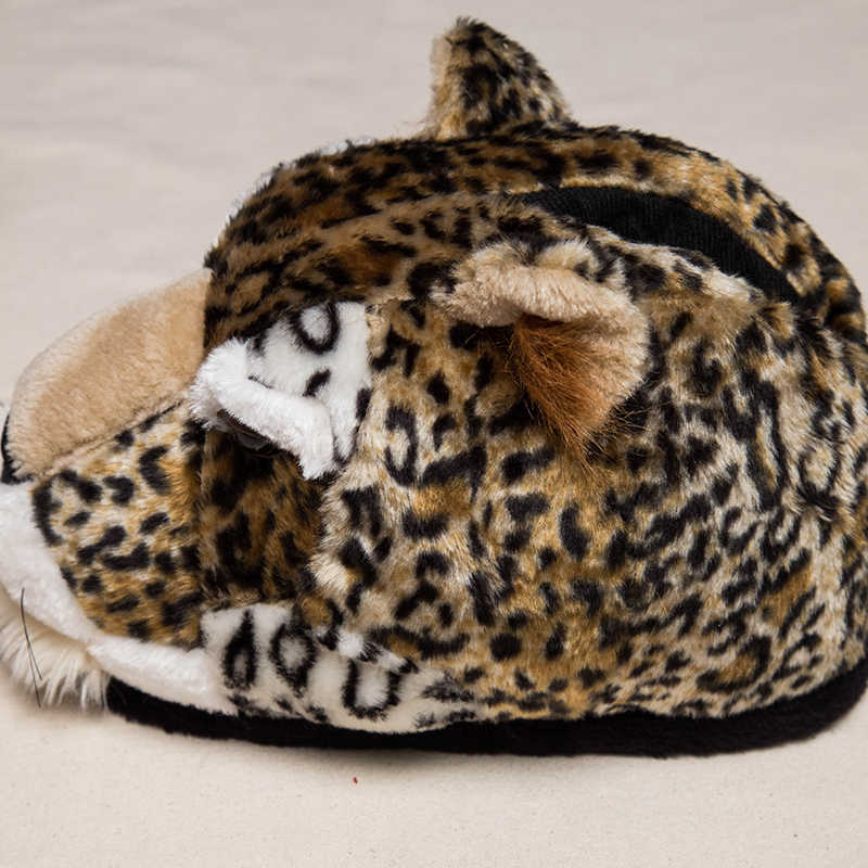 1164b1b37 ... Special new Christmas cheetah, home slippers pantoffels women men  indoor slippers winters Custom home shoes ...