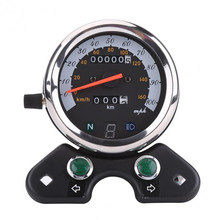 12V Universal  Motorcycle Double Odometer With Speedometer, Gear Digital Display Turn Indicator Light Neutral
