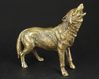 China Collect Manual Sculpture Vivid Fierce Wolf Statue Ornaments