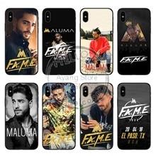 Maluma Ozuna POP Hip Hop Rapper Soft TPU silicone luxury Phone Coque Cover For iPhone X 10 5 5S SE 6 6SPlus 7 7Plus 8 8Plus ozuna bogota