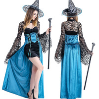 Sexy Witch Costumes Deluxe Adult Womens Magic Moment Costume Adult Witch Halloween Cosplay Party Fancy Dress