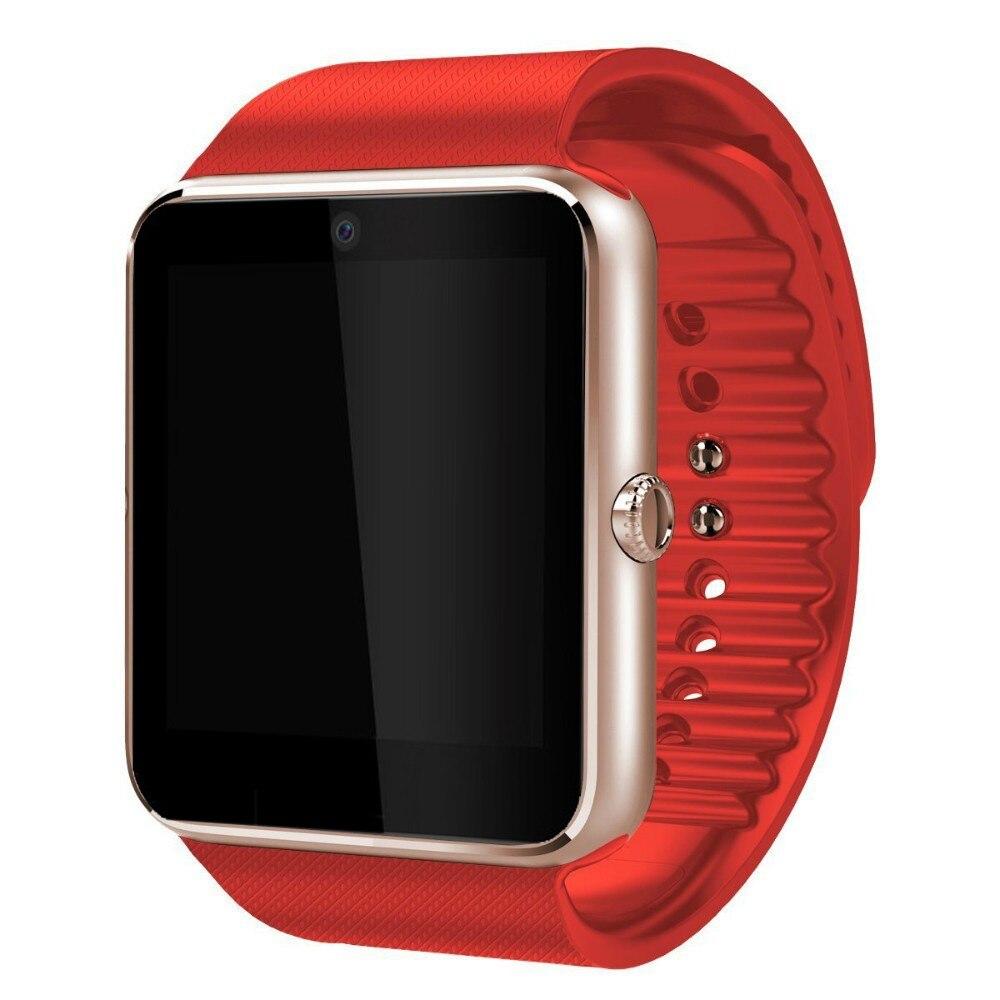 imágenes para Caliente reloj de sincronización de smart watch gt08 notificador sim apoyo tf tarjeta de conexión apple iphone android teléfono smartwatch dz09 pk u8 gd19