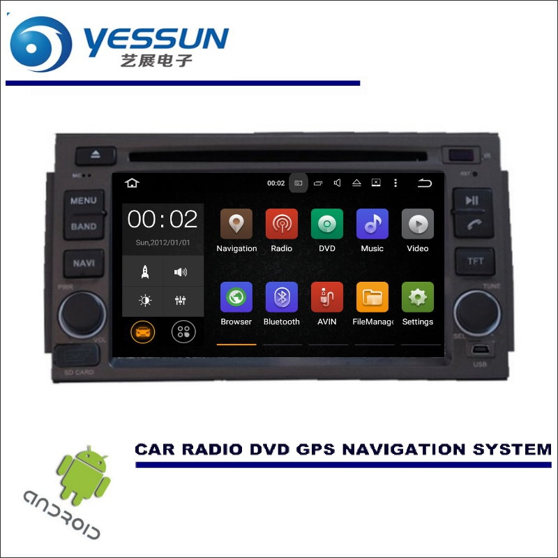 YESSUN Wince / Android Car Multimedia Navigation System For Hyundai Azera 2005~2011 / CD DVD GPS Player Navi Radio Stereo Screen цена