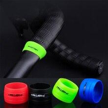 1 пара велосипедная лента для руля фиксирующий рукав силиконовый резиновый противоскользящий дорожный велосипед заглушки водонепроницаемое защитное кольцо