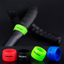 1 Pair Cycling Handlebar Tape Fixing Sleeve Silicone Rubber Anti-Skip Road Bike Plugs Waterproof Protective Ring(China)