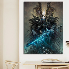 World Of Warcrafts Crazy Orc Death Knight HD Canvas Posters Prints Wall Art Painting Decorative Picture Modern Home Decoration