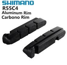 SHIMANO R55C4 v brake Road Bike обувь колодки для углерода/диски из алюминиевого сплава Dura-Ace/Ultegra/105 велосипед аксессуары R8000 6800
