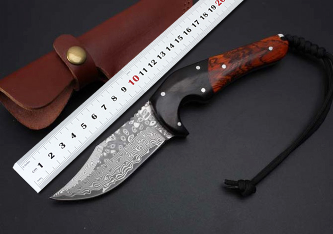Fixed Blade font b Knives b font Collection Damascus Utility Survival font b Tactical b font