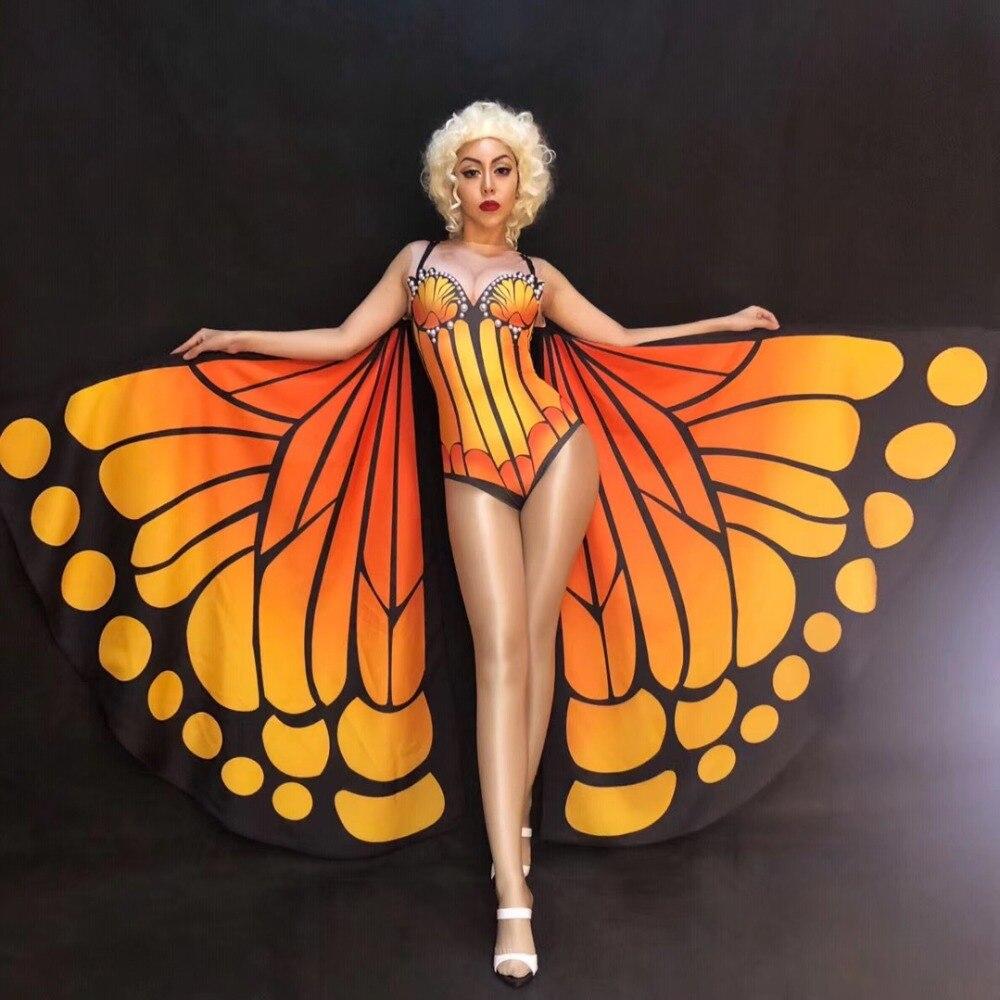 Sparkly Pearls Printed Sexy Bodysuit Female Singer Stage Dancer Costume Bar Nightclub Women's Birthday Show Leotard No Wings
