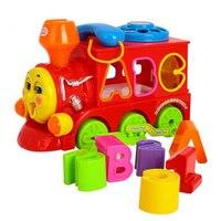 子供のおもちゃスマート電車形状ソーター手紙シミュレーション電話おもちゃw/ライト音楽トーマスと友人列車ドアゲー