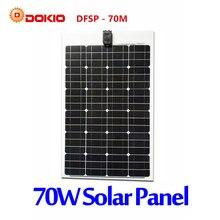 DOKIO Brand Flexible Solar Panel 70W Monocrystalline Silicon Solar Panels China 18V 910*530*25MM Size Top Quality painel solar