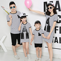 Family Clothing Mom and Daughter Matching Striped Fringe Dress Family Style Matching Outfits Father and Son Clothing Sets LB83