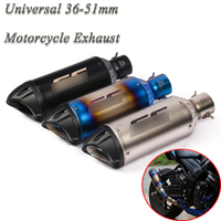 Motorcycle GP Exhaust Pipe Escape Modified Universal Motorbike 51mm Laser Muffler For Honda Ninjia 250 ATV PCX155 NVX155 R25 R6